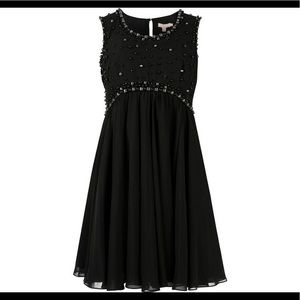 NWOT Ted Baker London Black Davini Chiffon Dress